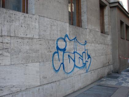 Odstranění graffity, Praha